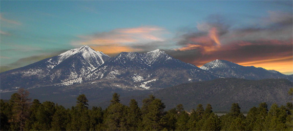 San Francisco Peaks, overlooking Flagstaff, Arizona