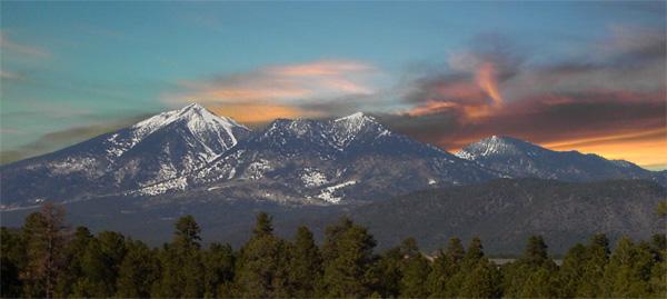 San Francisco Peaks, overlooking Flagstaff, Arizona